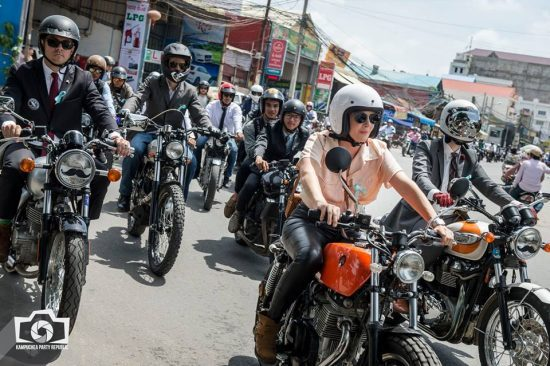 Hundreds of riders rode through Phnom Penh for charity - pic: Kampuchea Party Republic